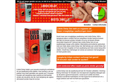 Libido delay gel